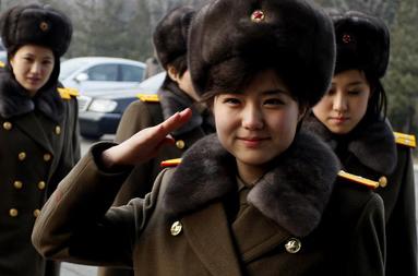 베이징에 도착한 모란봉악단 [AP=뉴시스]