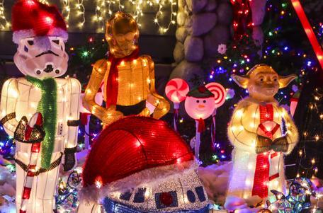 크리스마스 장식을 한 마을 [AP=뉴시스]