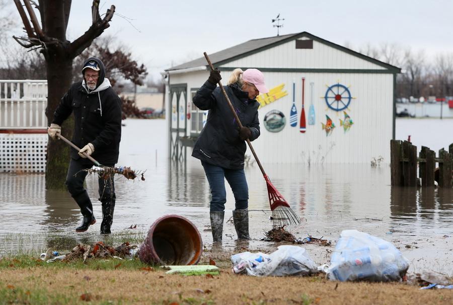 미국 미주리주 홍수[AP=뉴시스]