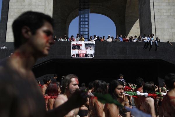 [사진] '투우는 이제 그만'… 멕시코 핏빛 시위