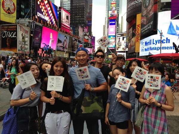 [사진] 뉴욕에 등장한 '8·15 광복절 부채'