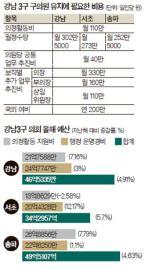 [빅 데이터로 본 강남] 기초의원, 최대 월 782만원 받아