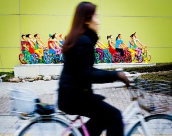 [김경록 기자의 '작은 사진전'] 봄의 시작, 그리고 자전거