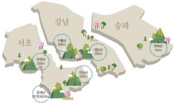 [통계로 본 강남] 청계산 봄철 주말 등산객 6만 명