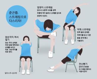[심수휘 기자의 직장생활백서] 춘곤증 물리치는 스트레칭