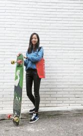 [江南通新이 담은 사람들] SNS '보드 여신' 고효주씨