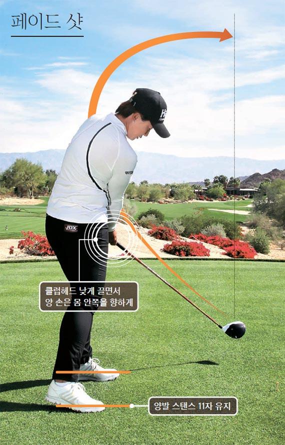 [골프여왕 박세리 챔피언 레슨] 드로 샷, 왼발 살짝 안쪽으로 오므리고 스윙