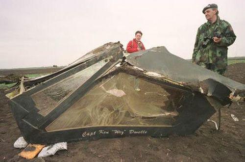 1999년 코소보 공습 중 격추된 미군 F-117A 폭격기 [사진 록히드마틴]