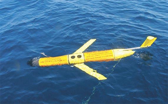 중국이 필리핀 수비크만에서 북서쪽으로 50해리 떨어진 공해에서 나포한 미국 수중 드론. [뉴시스]