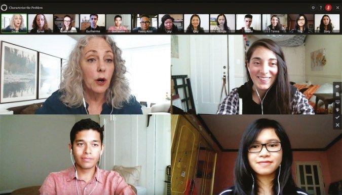 미네르바 대학의 '교실'은 비디오 채팅이다. IT 기술에 따른 혁신이 이런 교육을 가능하게 했다. [사진 동양경제]