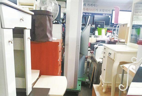 구청 재활용센터가 매입한 중고상품들. [사진 강남구청]