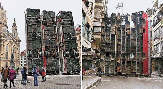 [사진] 시리아 내전 참상 알리는 설치작품