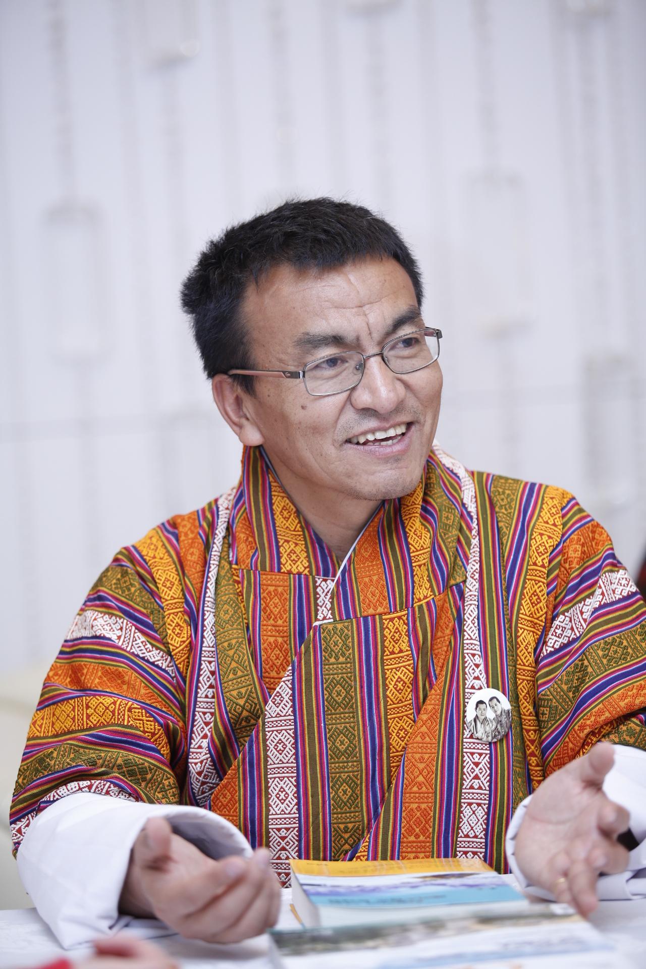 부탄 경제장관 겸 관광위원회 부위원장 레이키 도르지.
