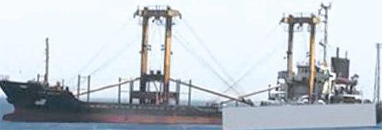 지난해 8월 이집트 당국에 의해 적발된 북한 선박지혜산호. [사진 유엔 보고서]