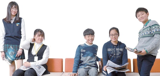 2016년 올해의 뉴스에 관해 다양한 의견을 나눈 학생기자들. 왼쪽부터 이리애·조민정·이유찬·최아리·박준혁(왼쪽부터) 학생기자.