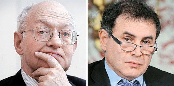 마틴 펠드스타인(左), 누리엘 루비니(右)