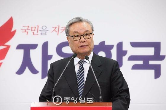 인명진 자유한국당 비대위원장.