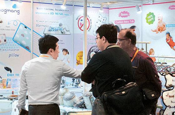 지난 2월 열린 '베페 베이비페어'에선 국내 육아전시회에서 처음으로 해외 바이어 초청 수출상담회가 열렸다. [사진 베페]