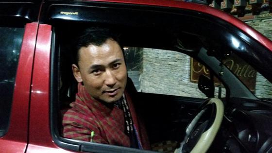 부탄에서 만난 '가장 친절한 사람' 킨장 도르지. 팀푸의 택시운전사.