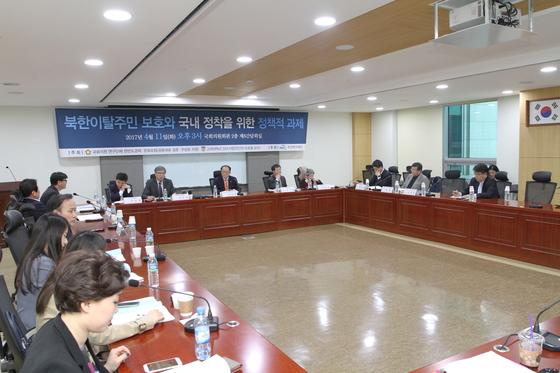 지난 11일 서울 국회 의원회관에서 '북한이탈주민 보호와 국내 정착을 위한 정책적 과제'를 주제로 정책토론회가 진행됐다. [사진=고려대학교 SSK사업단]