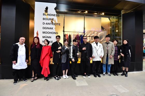 올해 텐소울 홍콩에 참여한 한국의 패션 디자이너들.