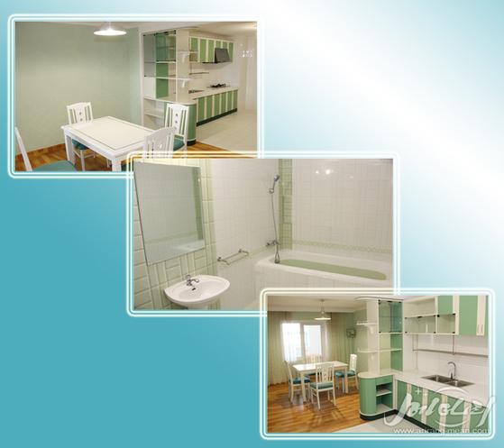 북한 대외선전용 웹사이트가 공개한 최신 아파트의 내부 모습. [사진=메아리 홈페이지]