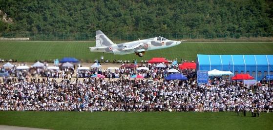 북한이 지난해 9월 갈마비행장에서 개최한원산국제친선항공축전의 모습. [사진=조선의 오늘]