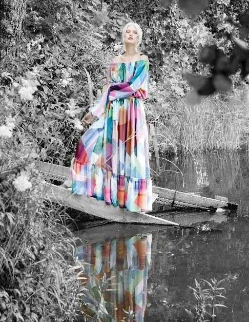 핀란드 패션 브랜드 마리타 후리나이넨. 컬러를 다양하고 화려하게 사용했다. [사진 마리타 후리나이넨]