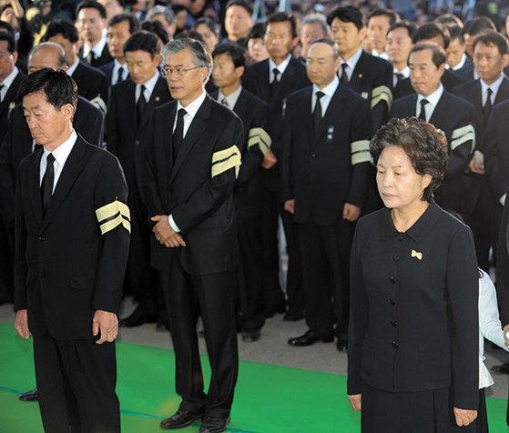 2009년 5월 29일 봉하마을에서 열린 고 노 전 대통령 발인식. [중앙포토]