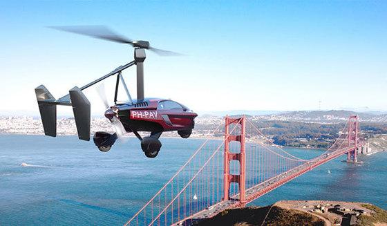 네덜란드 기업 팔V가 헬리콥터와 자동차를 결합해 개발한 양산형 비행카 '리버티(liberty)'가 시험 비행을 하고 있다. 약 3000만원의 예치금을 납입하면 리버티 예약 주문이 가능하다. 리버티는 2018년 주문한 고객에게 인도될 예정이다. [중앙포토]