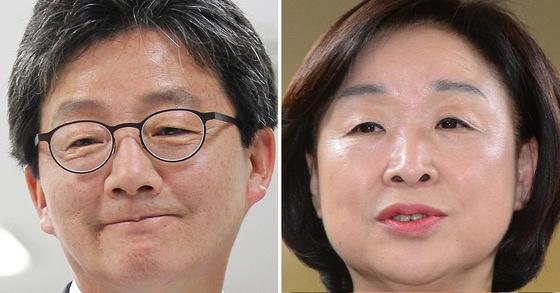 유승민 바른정당 후보(왼쪽), 심상정 정의당 후보