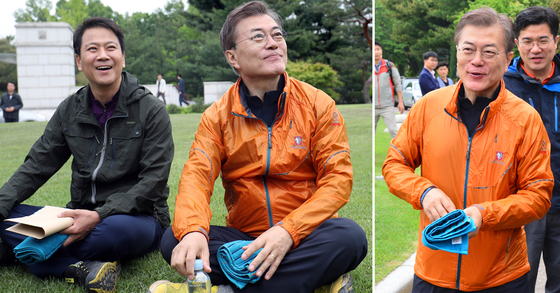 """블랙야크 """"문재인 점퍼 재출시 결정""""…대통령 등산복 다시 보니"""