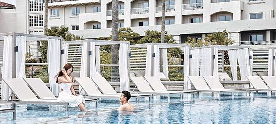 제주신라호텔은 어른 전용 수영장 '어덜트 풀'과 '풀사이드 바' 1주년을 기념해 얼리 서머 패키지 '서머 셀러브레이션'을 선보인다. [사진 제주신라호텔]