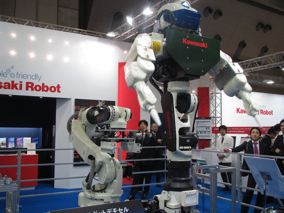가와사키중공업의 장신 '합체로봇'. [중앙포토]