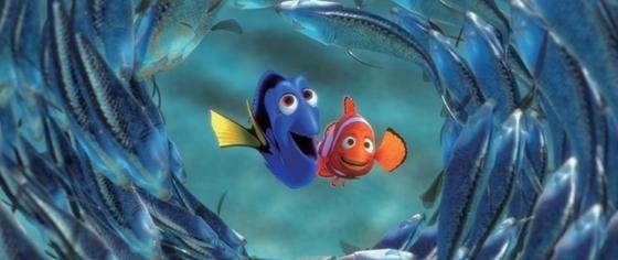 애니메이션 '니모를 찾아서'. 오른쪽 주황색 물고기가 니모.
