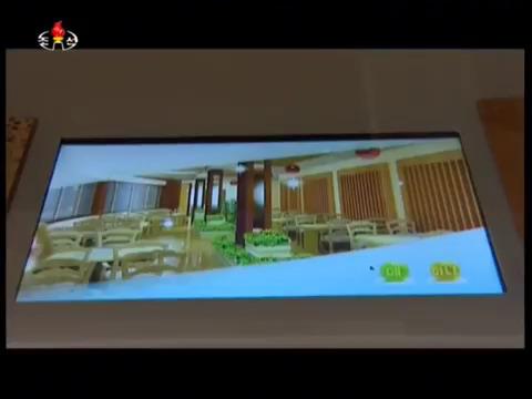 평양 여명거리 영복식당이 도입한 터치패드 방식의 전자메뉴판의 모습. [사진 조선중앙TV 캡처]