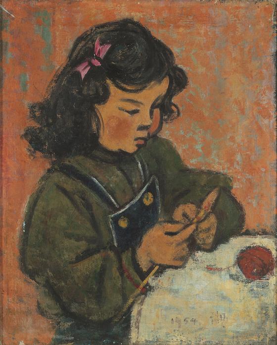 토벽동인 임호의 '혜경'(1954년). [사진 부산시립미술관]