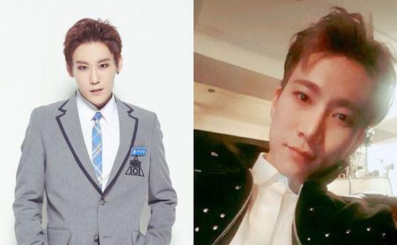 왼쪽 Mnet '프로듀스 101 시즌2' 박우담, 오른쪽 비투비 멤버 서은광