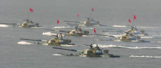 중국 해병대 훈련 [사진 바이두]
