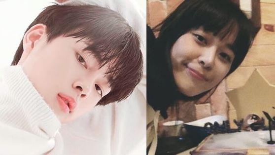 왼쪽 Mnet '프로듀스 101 시즌2' 유선호, 오른쪽 배우 이하나