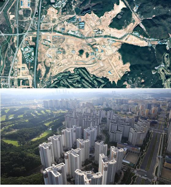 아파트의 습격. 올 하반기 이후 새 집이 대거 들어서면서 주택공급이 급증한다. 허허벌판의 경기도 화성시 동탄2신도시가 대규모 아파트촌으로 바뀌고 있다.