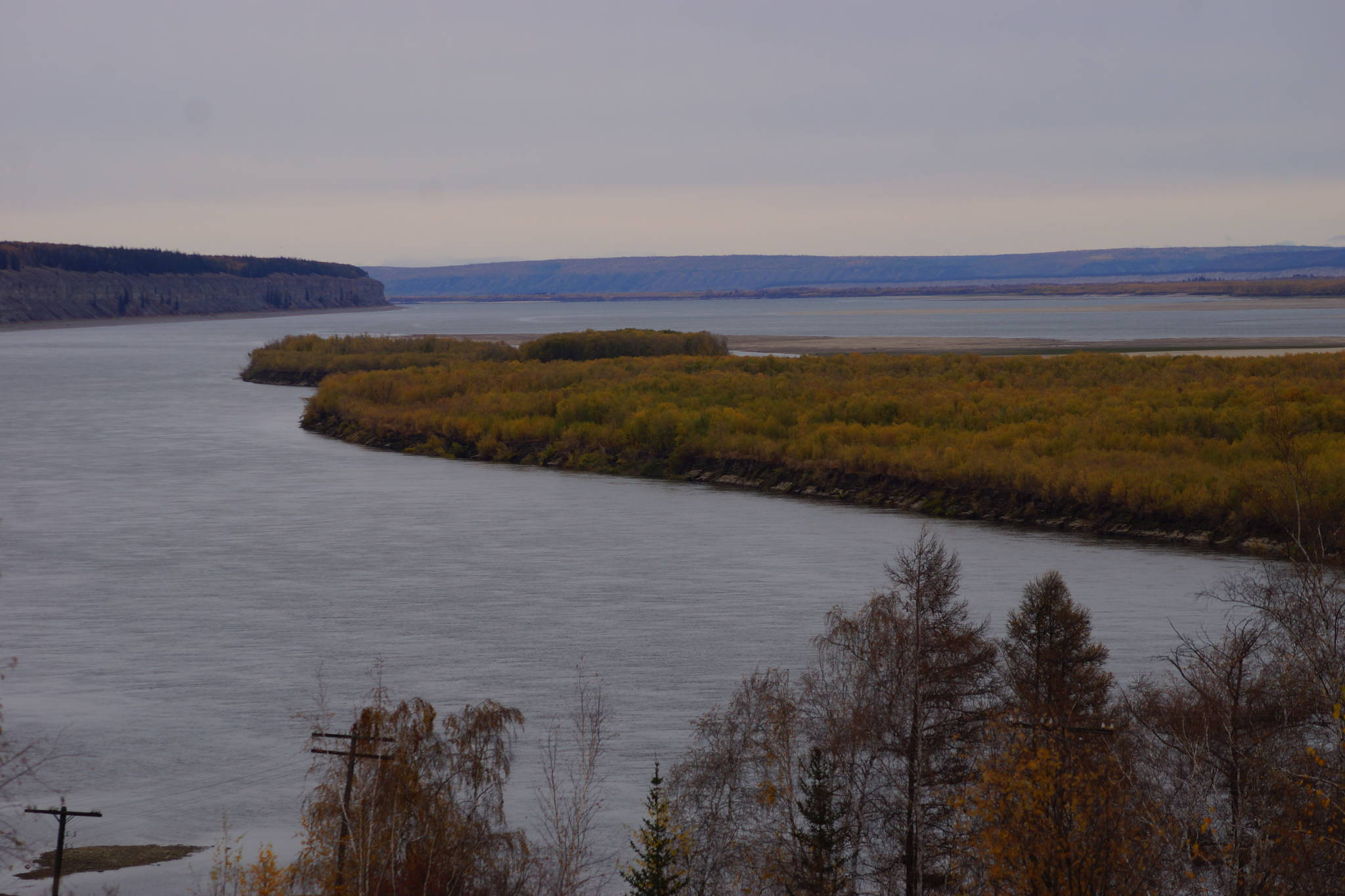 러시아 시베리아의 레나강