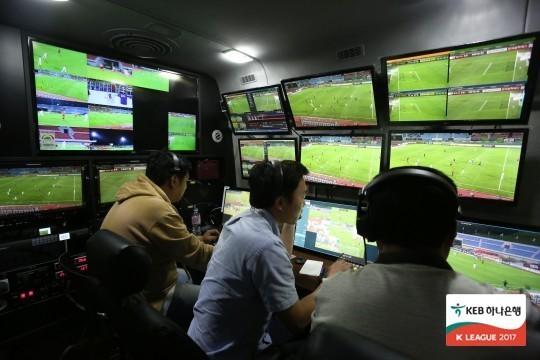 VAR 판독이 이뤄지는 VOR. [사진 한국프로축구연맹]