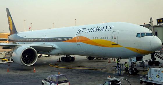 인도 항공사 제트 에어웨이즈의 항공기.