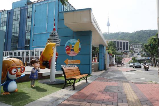 서울 남산 예장자락 일대에 '다크 투어' 코스가 조성된다. 일제시대 한국통감부가 있던 서울애니메이션센터 앞은 '국치의 길'의 주요 탐방지로 조성된다. [김춘식 기자]