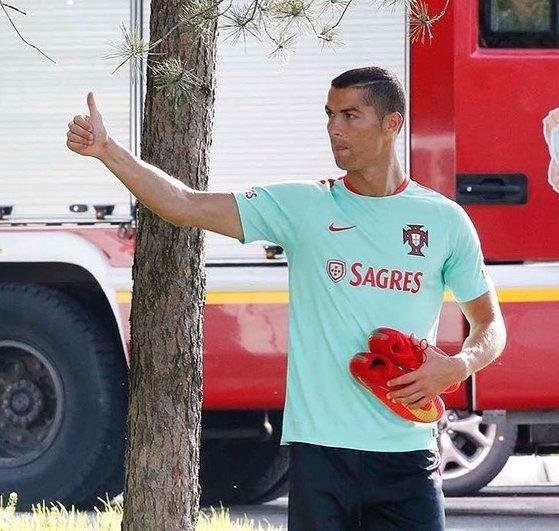 러시아에서 열리고 있는 컨페더레이션스컵에 참가 중인 포르투갈 공격수 호날두. [호날두 인스타그램]