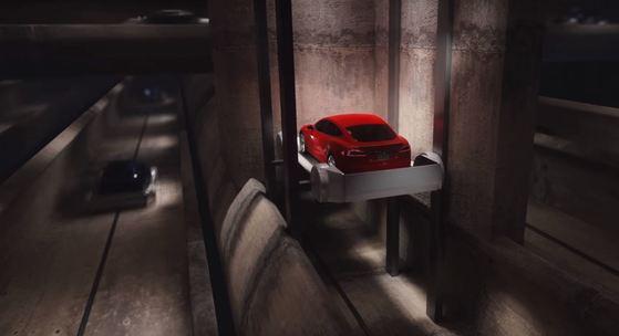보링 컴퍼니가 지난 4월 공개한 지하 터널 교통망 영상. [사진 보링 컴퍼니 유튜브 영상 캡처]