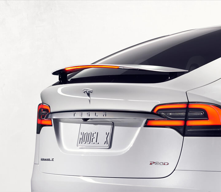 테스라의 SUV 차량 '모델 X' [사진 테슬라 홈페이지]