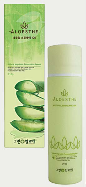 알로에스테는 라벤더수를 함유한 순수 자연친화주의 제품이다. [사진 그린알로에]