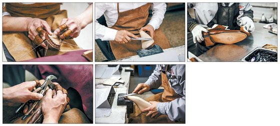 헤리티지의 모든 제품은 150여 개 이상의 모든 공정이 금강제화의 부평 공장에서 진행된다. 부평 공장은 신발 제작 시 조립, 완성단계에 이르기까지 수시로 품질 검사를 진행한다. 완성 후에도 전수검사를 진행해 높은 품질 경쟁력을 지키고 있다. [사진 금강제화]